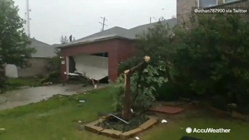 Tornado leaves damage across several homes