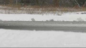 Lake-effect snow creates slippery, icy road conditions