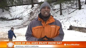 Kids of all ages enjoy a snowday