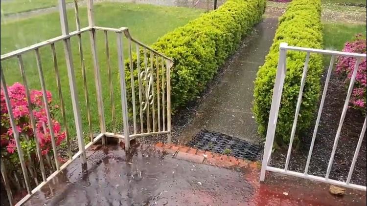 Hailstorm surprises coastal Virginia community