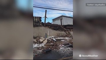 Heavy snow causes building to collapse