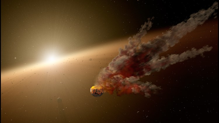 Melting Moon Could Explain Behavior of Universe's Most Mysterious Star