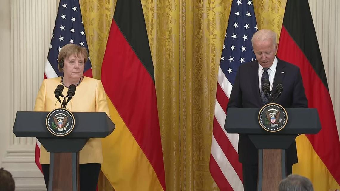 Biden thanks German chancellor Merkel for historic career