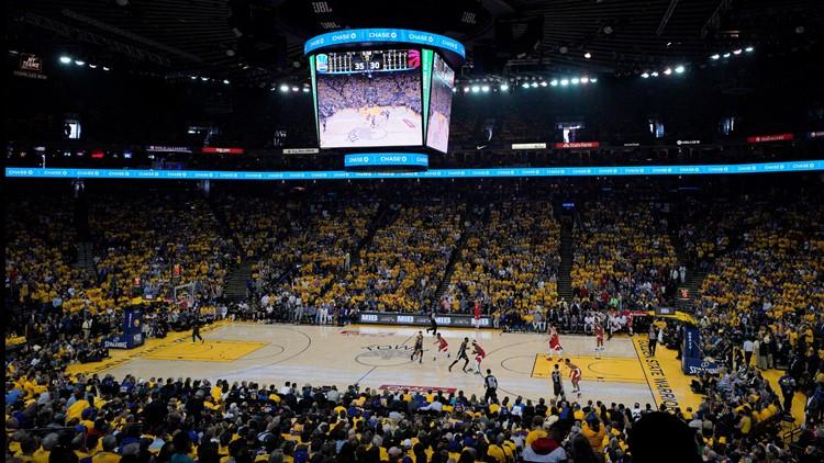 NBA Finals Raptors Warriors Basketball Oracle arena last one