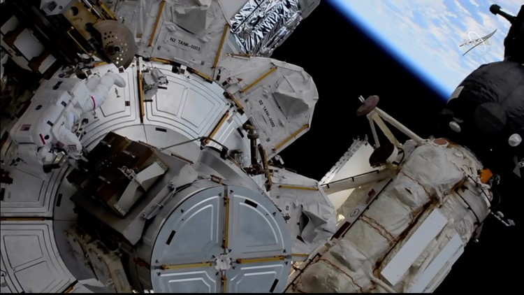 Astronauts finish solar panel prep for space station power boost