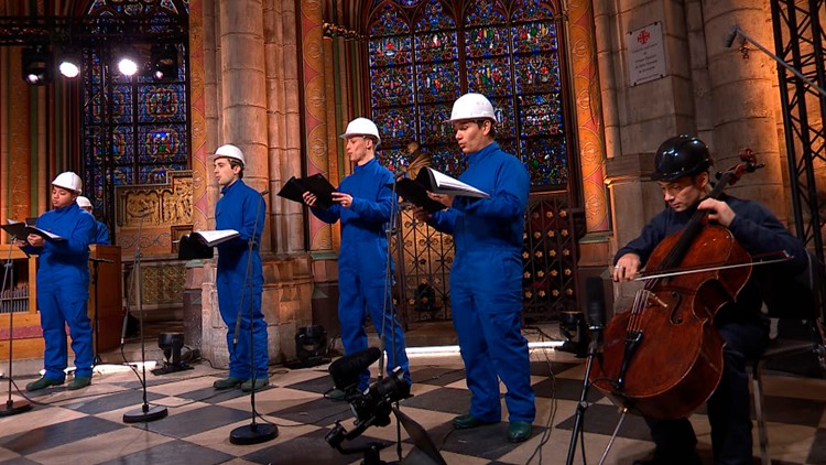Christmas Eve concert held in Notre Dame Cathedral for first time since fire