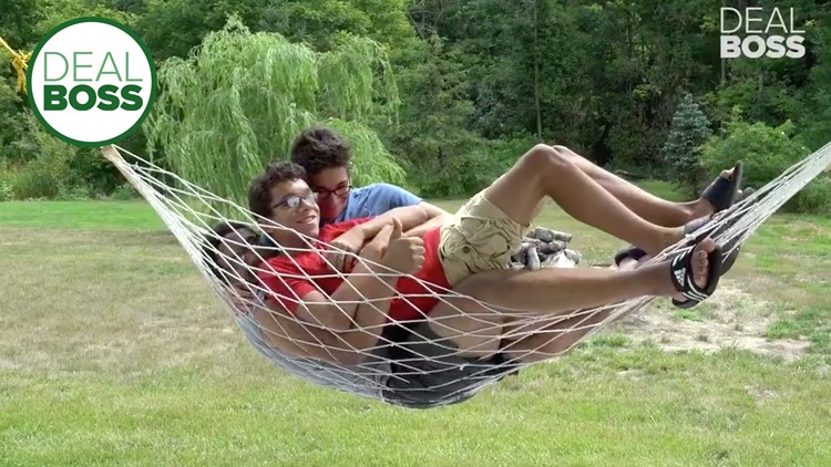 This $20 hammock swing can hold 450 pounds