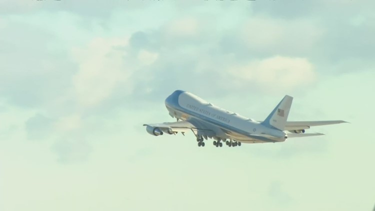 Watch: President Biden and Air Force One land at the Boise Airport
