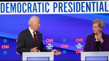 Tracking candidates' speaking times in the October Democratic debate