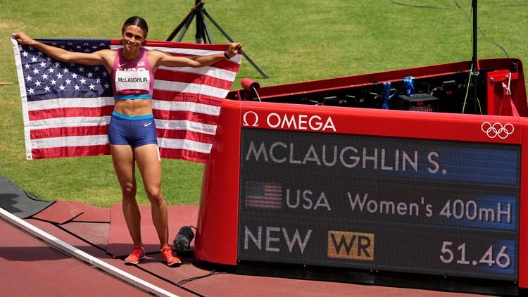 Tokyo Rewind, Aug. 3: American sets world record in track final; Biles wins beam bronze