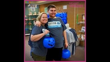 Blue pumpkins identify trick-or-treaters with autism