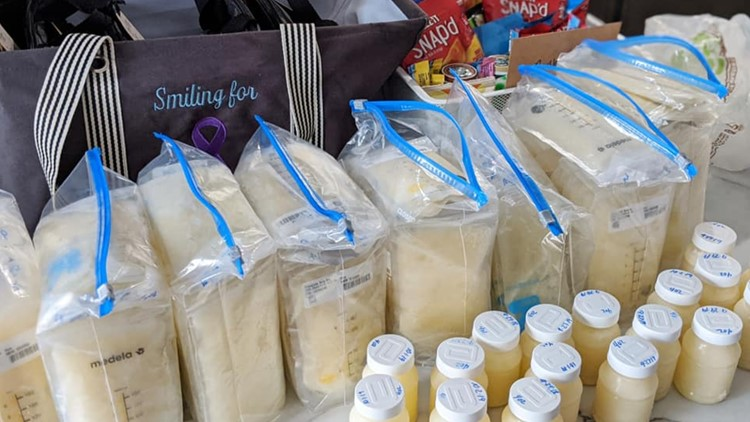 Mom donates breast milk after losing baby