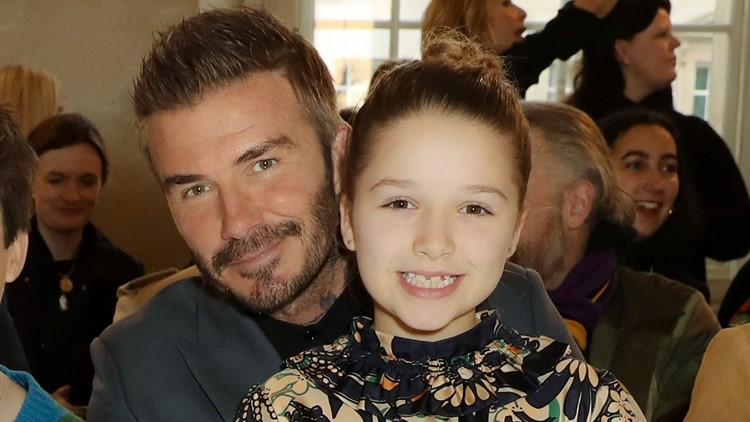 Victoria and David Beckham's 10-Year-Old Daughter Harper Wears Dress From Mom's Fashion Line