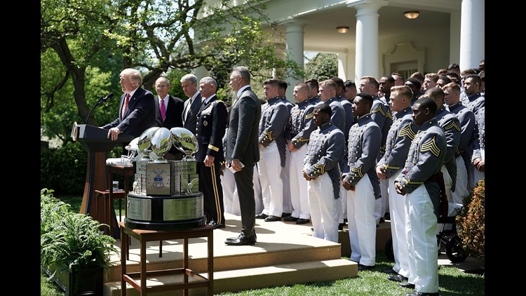 Commander-in-Chief's Trophy presented to US Military Academy