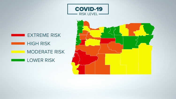 New Oregon COVID risk levels: Washington, Clackamas counties to expand indoor dining