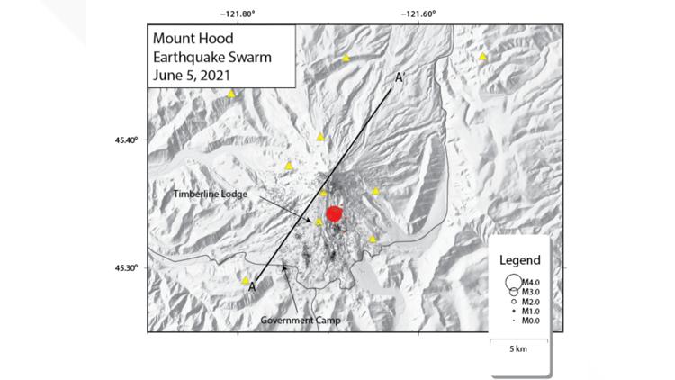 3.9 magnitude earthquake hits Oregon's Mount Hood