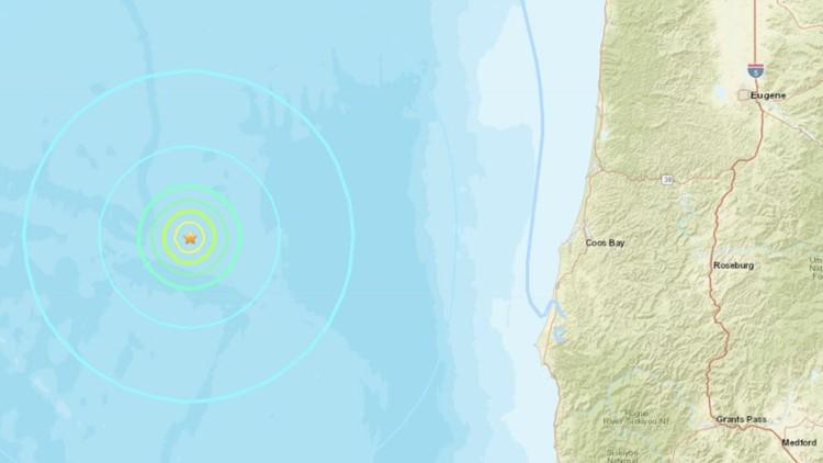 5.7 earthquake hits about 127 miles off Oregon coast