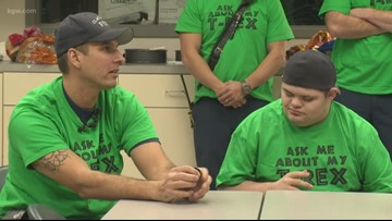 Oregon man with Down syndrome, autism reunites with firefighters who rescued him