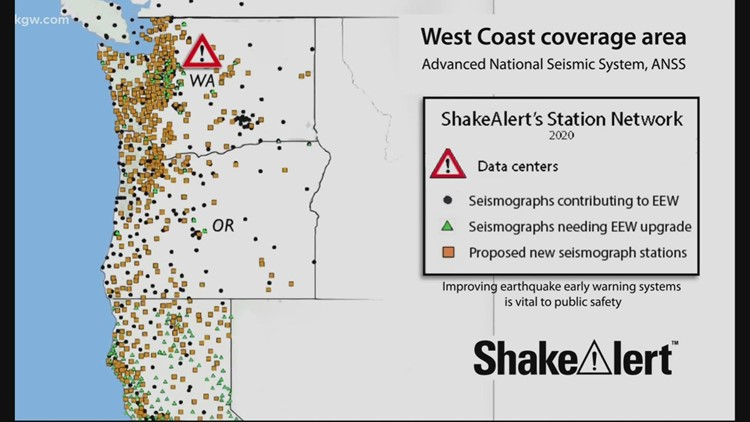 Earthquake early warning system now active in Oregon