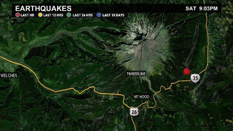 3.9 magnitude earthquake reported near Mount Hood