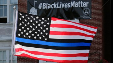 Oregon county pays $100K over Blue Lives Matter flag