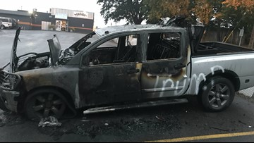 'It blew me away': Man believes truck was torched because of Trump bumper stickers