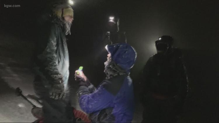 Wedding proposal on Mount Hood