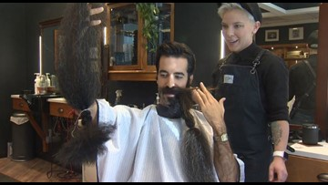 'World's Best Beard' gets shaved off for charity