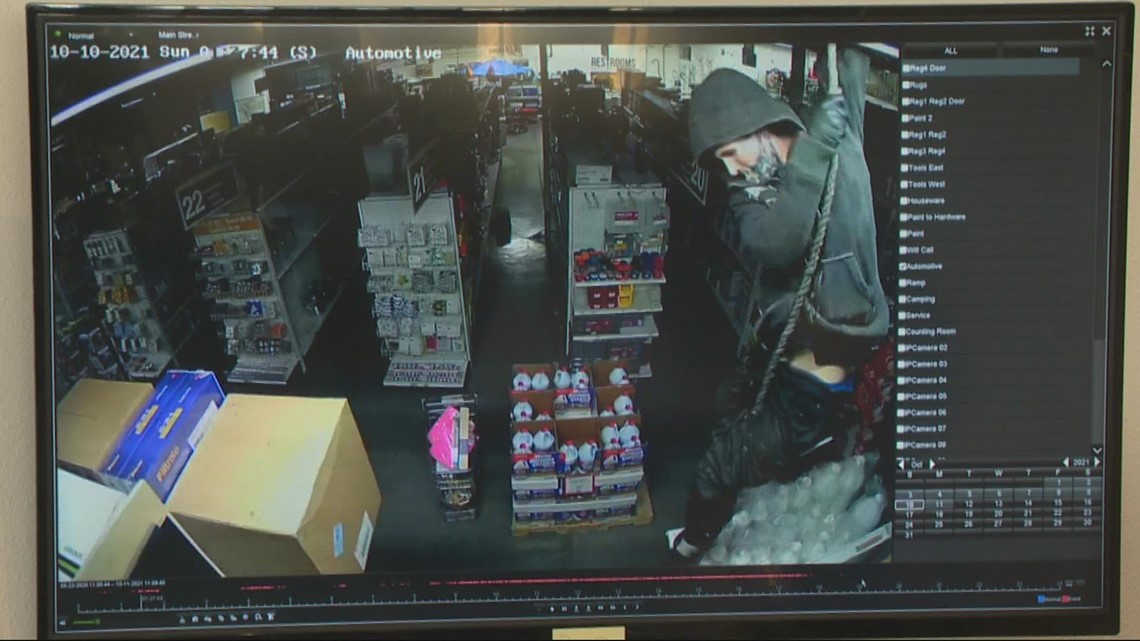 Burglar arrested after rappelling into Portland hardware store through a skylight