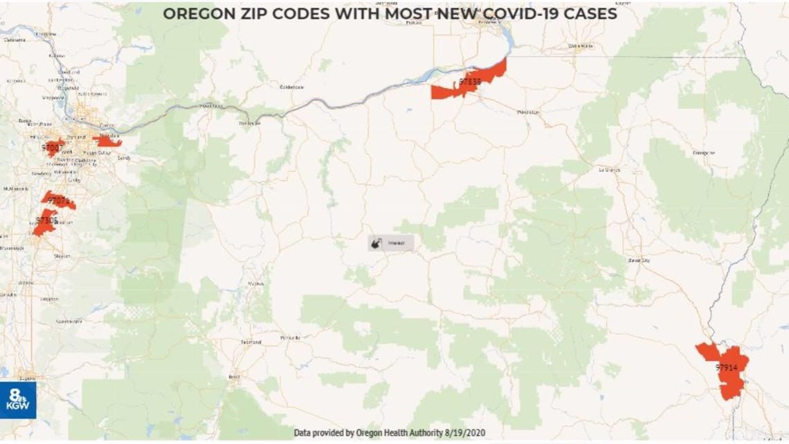 Picture of: These 10 Zip Codes Have The Most New Covid Cases In Oregon Ktvb Com