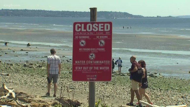 Seattle-area beaches closed due to 3 million-gallon sewage spill