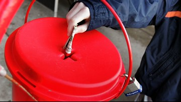 Gold coin donated to Washington Salvation Army red kettle