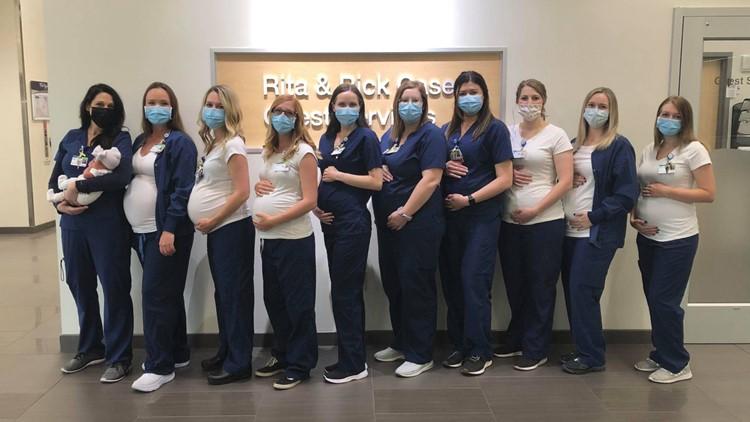 Baby boom: 10 nurses in one Kootenai Health unit pregnant at same time