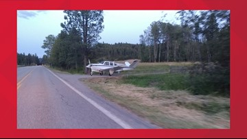 Plane makes emergency landing on North Idaho highway, pulls into driveway