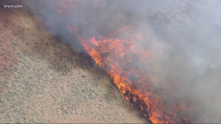 Latest updates on wildfires burning in Washington, North Idaho