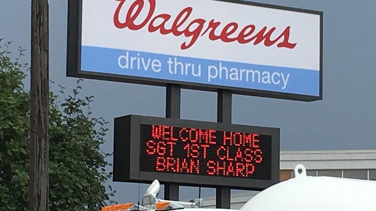 CDA Walgreens welcomes wounded combat veteran