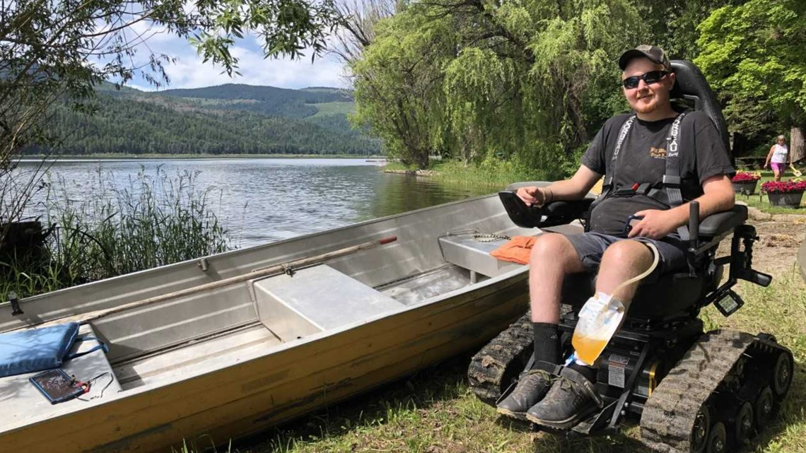 Man paralyzed during North Idaho windstorm receives free all-terrain wheelchair
