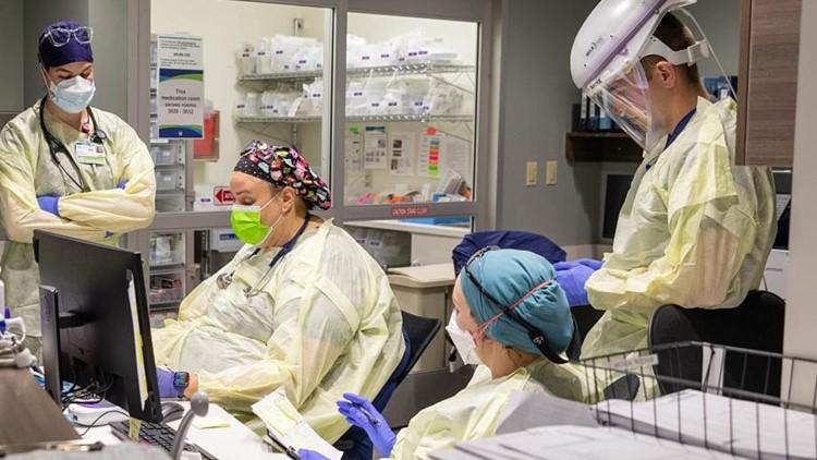 U.S. Army helps Kootenai Health care for COVID-19 patients