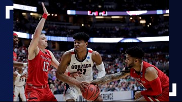 Gonzaga's season comes to an end in 75-69 loss to Texas Tech in Elite Eight
