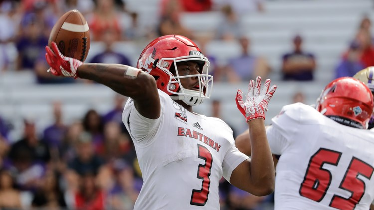Eastern Washington routs Idaho after a record-breaking performance by Eagles' quarterback