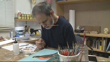 Paralyzed Missouri hockey player becomes artist and inspiration