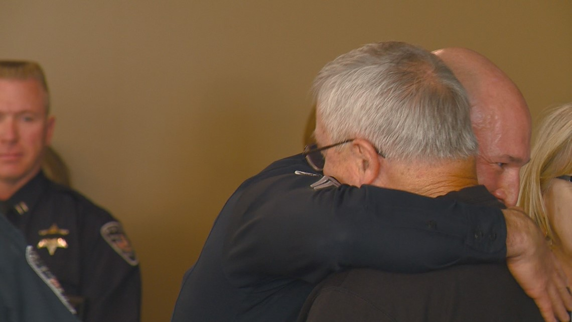 'If he hadn't arrived when he did, I probably wouldn't be here': Boise stabbing victim thanks officer who saved his life