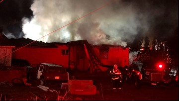 Fire destroys Caldwell mobile home: 'It's a total loss'