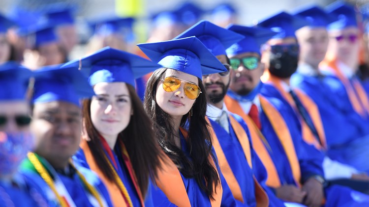 'I'm scared but I think I'm ready': Boise State University honors 2020, 2021 graduates during 108th commencement