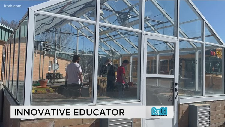 Eagle teacher uses greenhouse to impart natural lessons