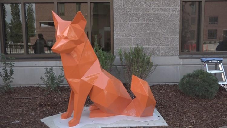 St. Luke's sculptures fox