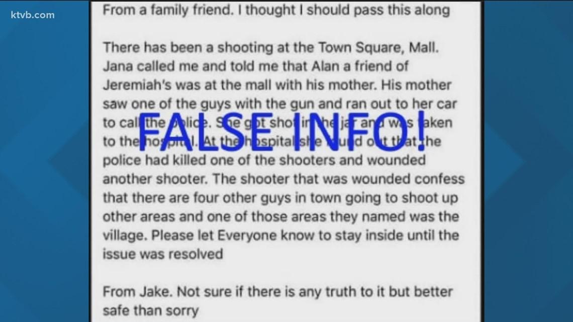 False social media posts go viral after Boise mall shooting