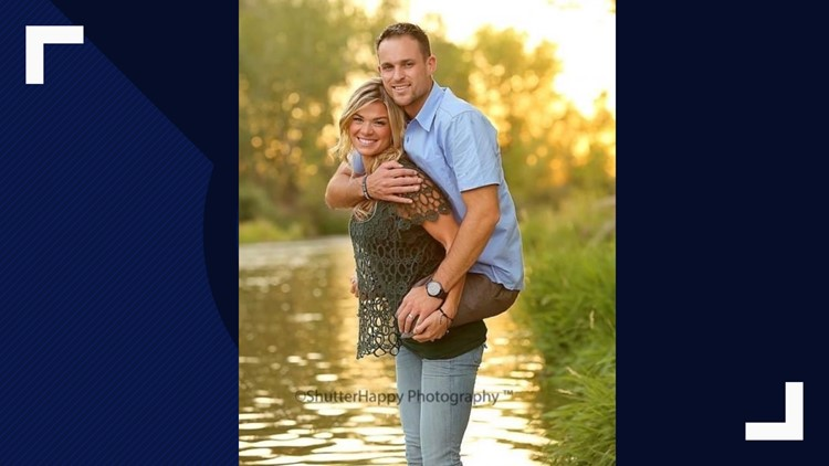 This photo of Kelly Cottle carrying her husband Jesse on her back went viral in 2013. Marine Staff Sergeant Jesse Cottle lost his legs in Afghanistan in 2009.