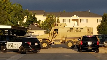 Standoff with armed man at Nampa apartment complex ends peacefully