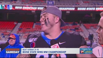 Boise State Chase Hatada explains how the Broncos' effort lead the defense to dominate Hawai'i